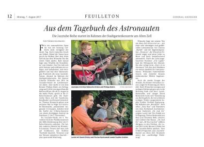 Konzertbericht General-Anzeiger Bonn, 07.08.2017